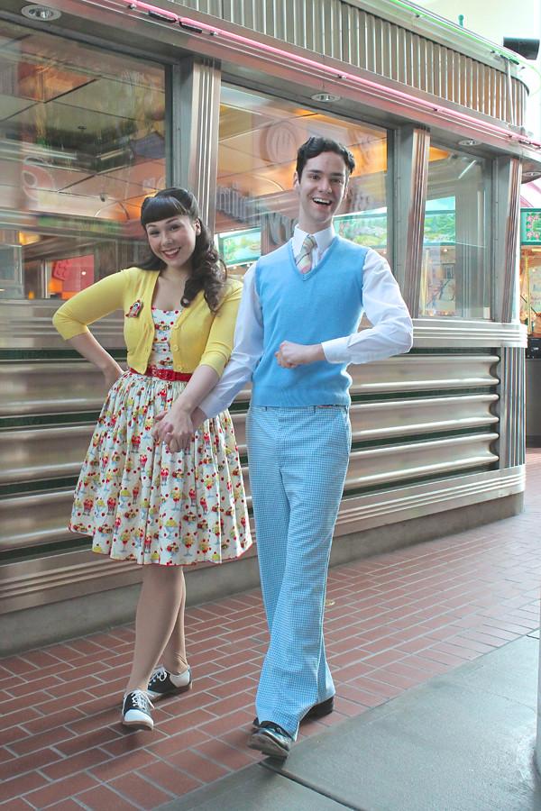 vintage retro couple
