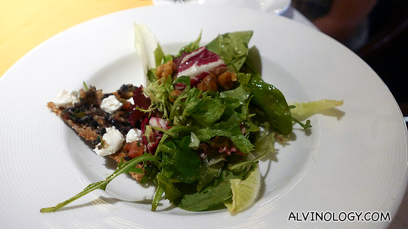 Salad with balsamic and walnut vinaigrette