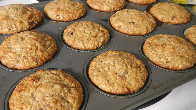 Banana Oat Bran Muffins 10