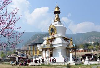 Image of  Chorten. bhutan stupa thimphu