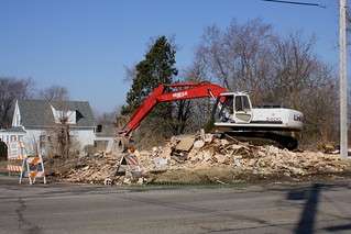 Demolition of Sauter saloon building