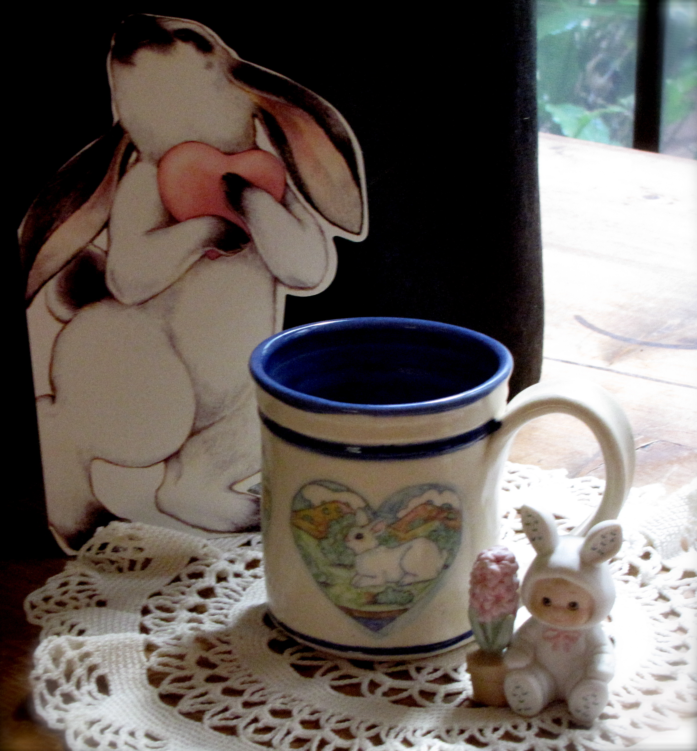 Porcelain Bunny Mug