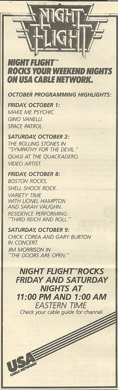10/14/82 RS (Night Flight on USA - Schedule Ad)