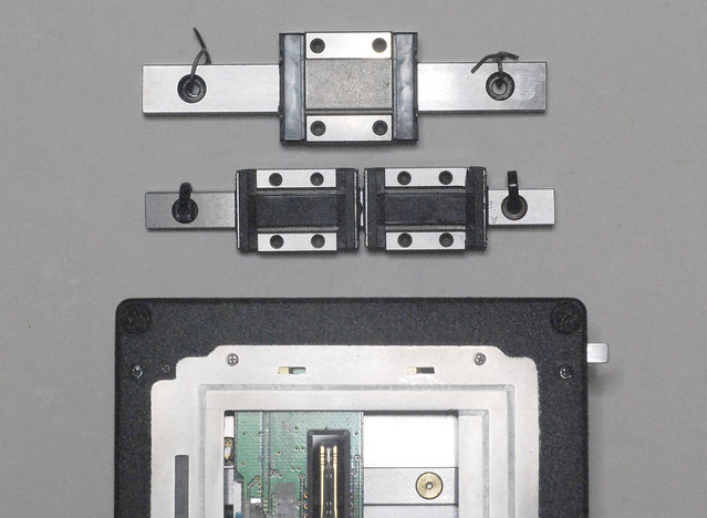 Linear guide for compact YAKUSCAN