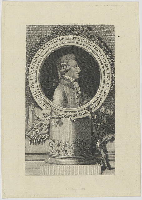 Bildnis des Ch. Prince de Ligne Chev. de la Tois