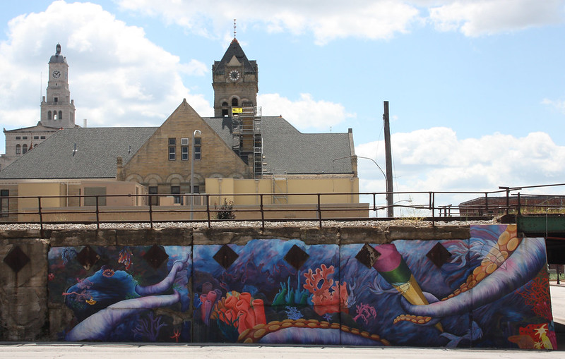 Mural in Davenport, Iowa