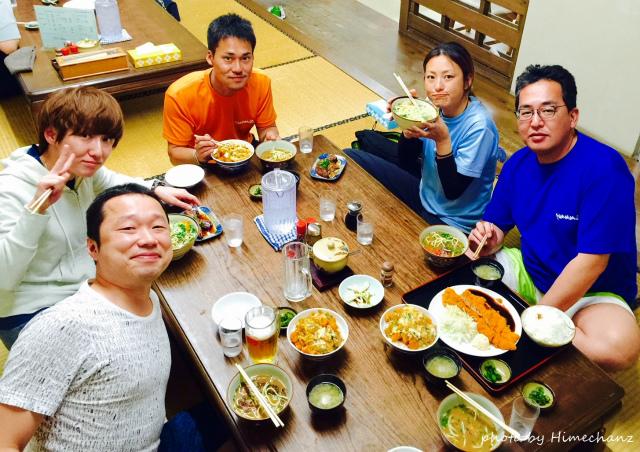 明石食堂で集合写真♪ 2015/03/22