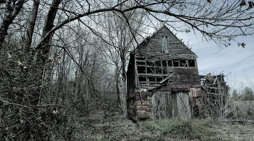 abandoned barn rural woods ruins farm kentucky farming fujifilm ruraldecay benton iola bobbell xpro1