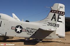 135018 AE-810 - 10095 - US Navy - Douglas EA-1F Skyraider AD-5Q - Pima Air and Space Museum, Tucson, Arizona - 141226 - Steven Gray - IMG_8440