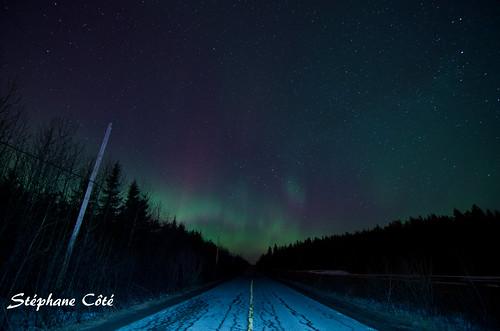 Street and aurora