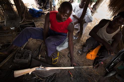 Vigilante gunsmith Eshayo Eno, Adamawa, Nigeria