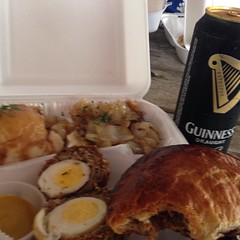 Scotch eggs tatters and Nash and oh yes Guinness