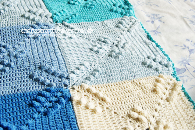 Finished crochet blanket