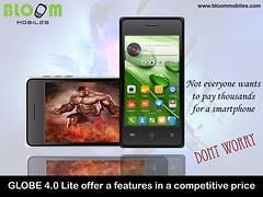 Bloom mobiles GLOBE 4.0 Lite in a competitve price