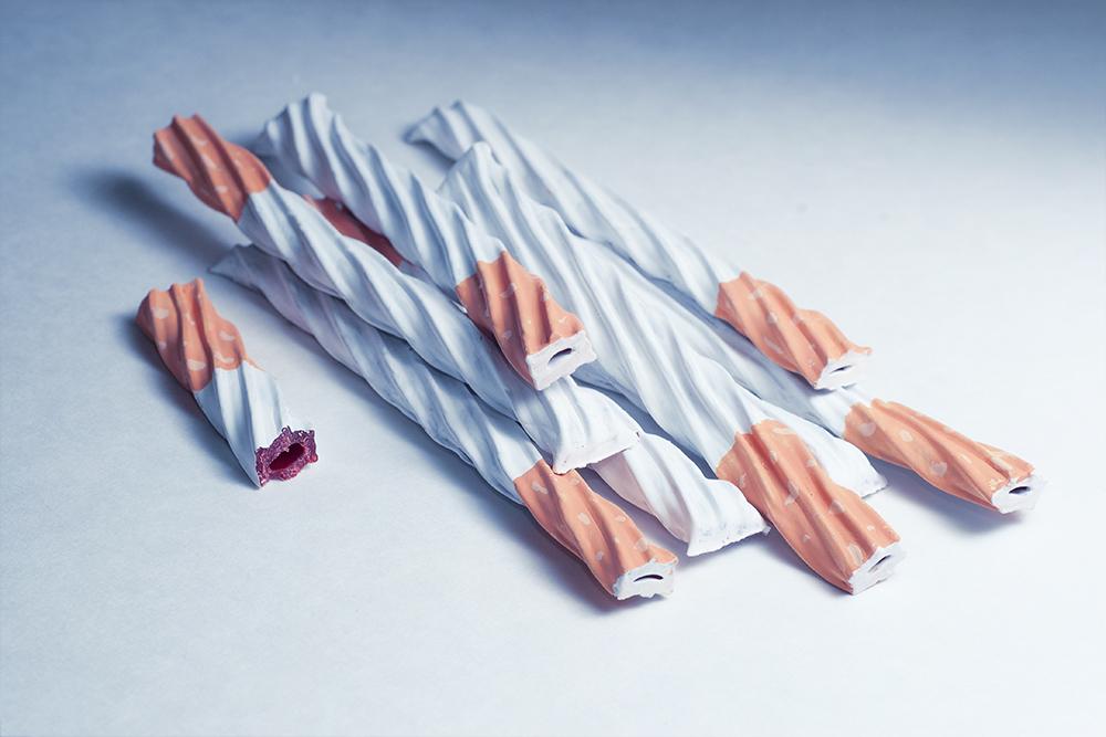 twizzler cigarettes, painted twizzler, twizzler art