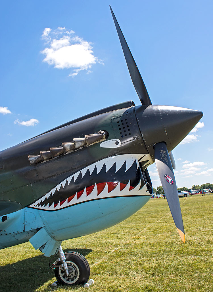 P-40 | Photo by Laurie Goossens | EAA AirVenture Oshkosh | Flickr