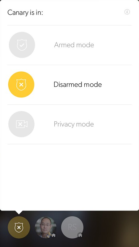 Canary available modes