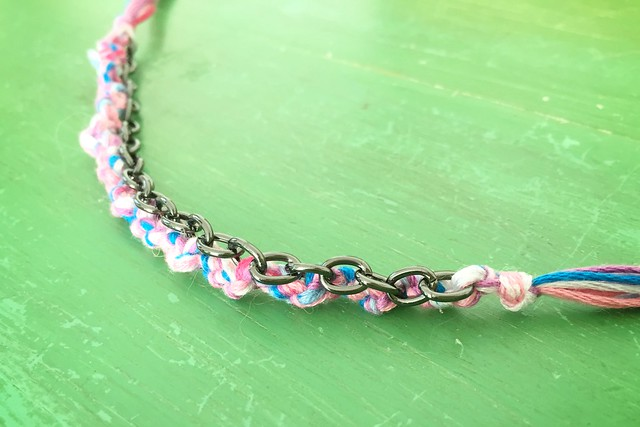 Friendship Bracelet with Metal Chain