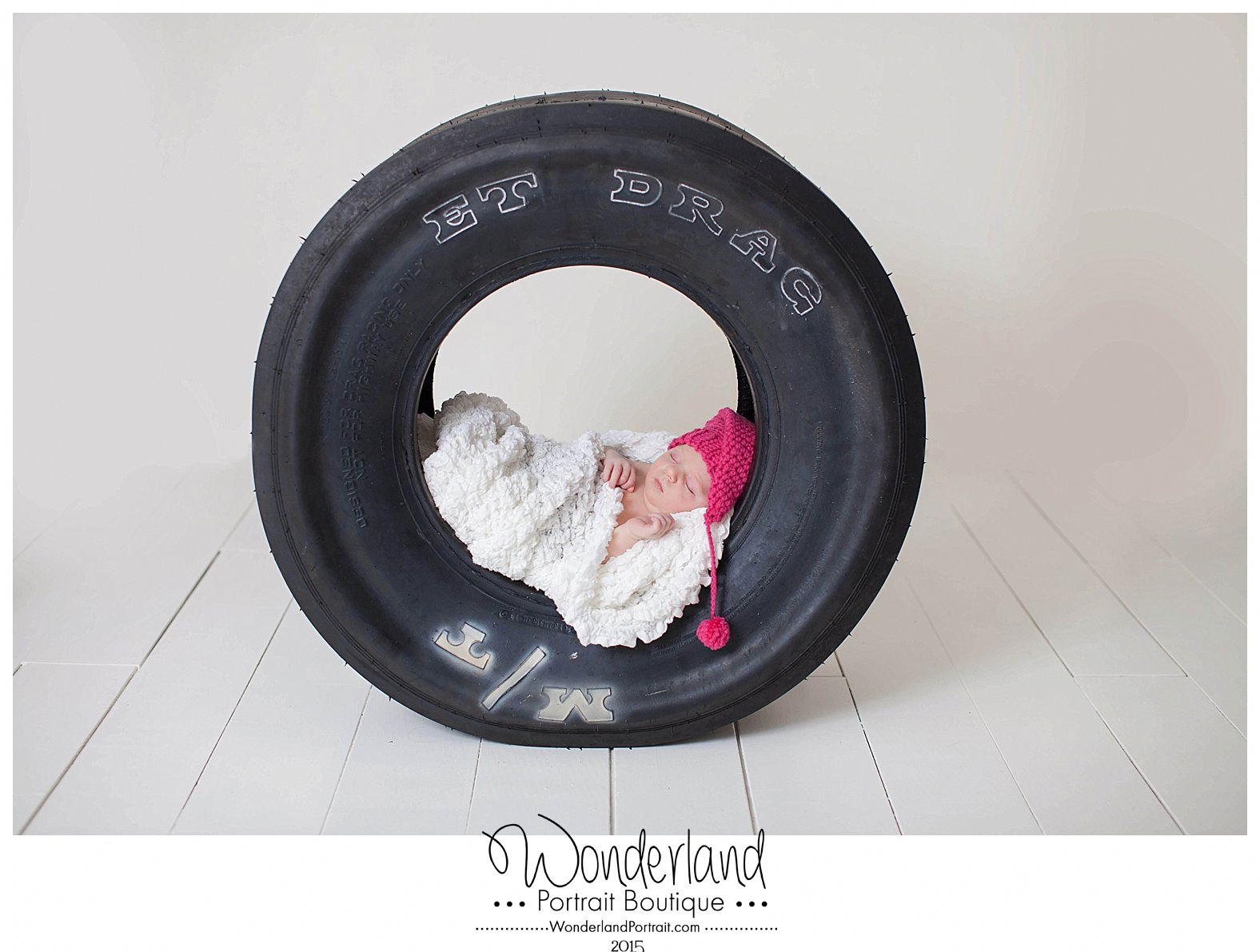 Racing Newborn Poses | Drag Racing Tire | Philadelphia Newborn Photographer