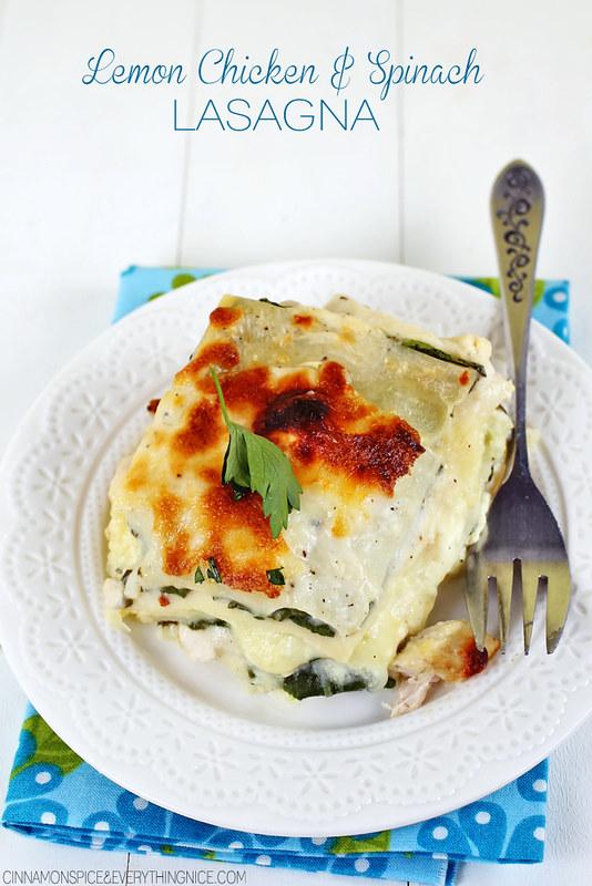 Lemon Chicken & Spinach Lasagna