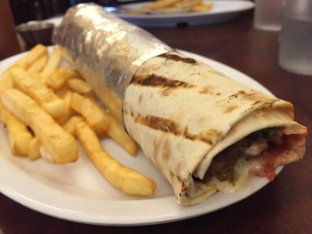 Adana kebab wrapped sandwich - Gryo King