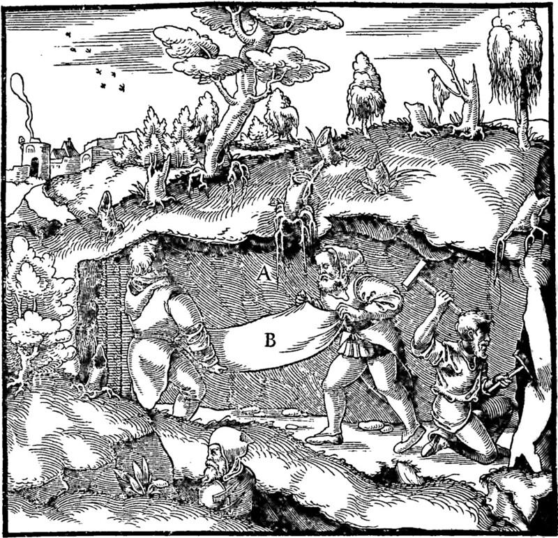 Engraving from De re metallica di Georg Agricola