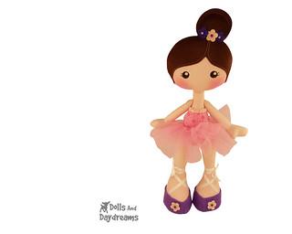 Ballerina jointed art doll
