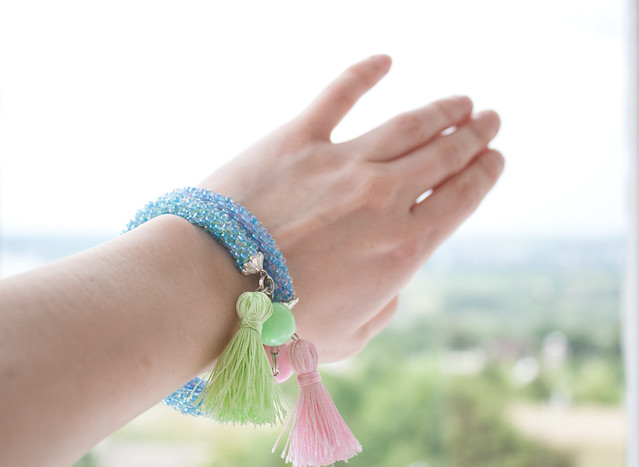 Tassel beaded bracelets - on hand