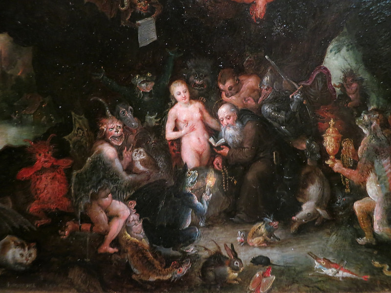 Jan Brueghel The Elder - The Temptation of Saint Anthony, 1594 (detail 1)