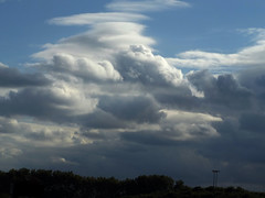Clouds over Tottenham Marshes