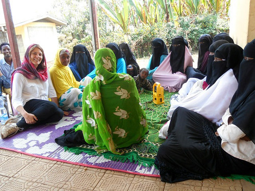Nicola Harford with radio groups in Ethiopia | by iMedia Associates