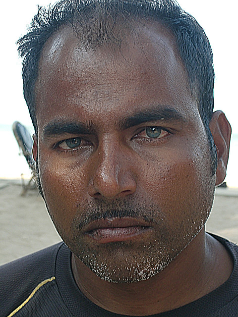 The blueeyed fisherman in Goa India