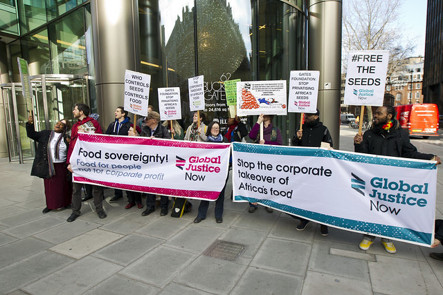 Gates foundation seed protest