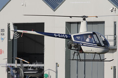 G-GJCD - 1989 build Robinson R22 Beta, inbound to its' Staverton base
