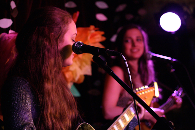 Agata & Hayley Harland performing at The Acoustic Folk Highway - The Harrison, London
