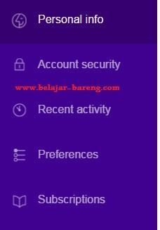 yahoo mail account info