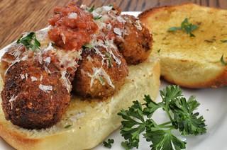 Mmm... breaded meatball sammich
