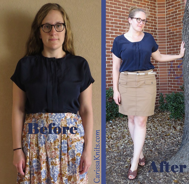 Navy Blouse - Before & After