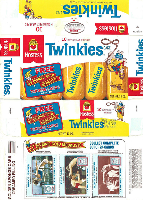 1983 Hostess Twinkies Box Olympic Gold