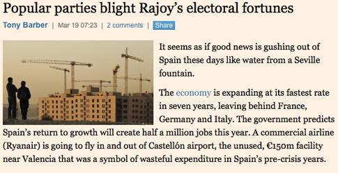 15c19 FTimes Los nuevos partidos arruinan perspectivas electorales PP PSOE