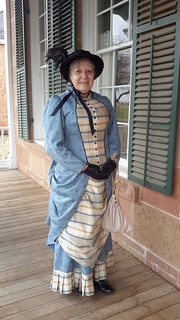 Park volunteer depicting life as Col. Benjamin H. Grierson's wife at the fort around 1882