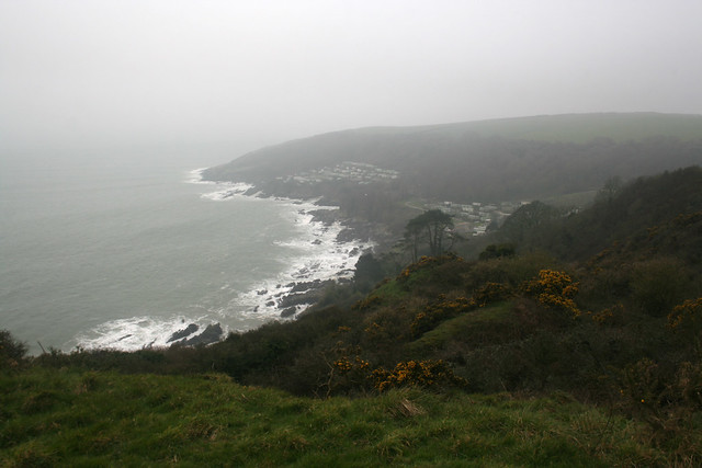 View east of Stoke Beach