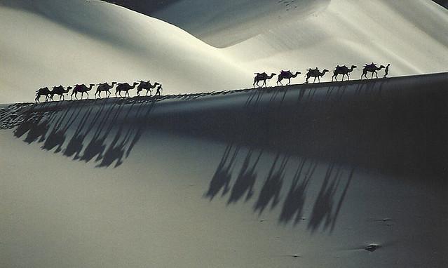 2140 The Gobi Desert--Gansu Province , China