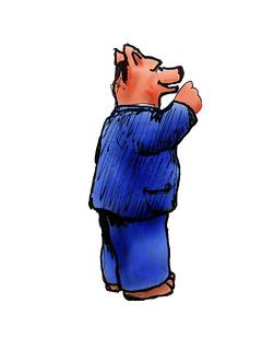 Talking middle class bear
