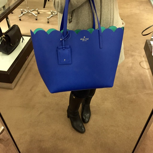 Kate Spade Lily Avenue Carrigan Leather Tote in Island Deep/Fresh Air