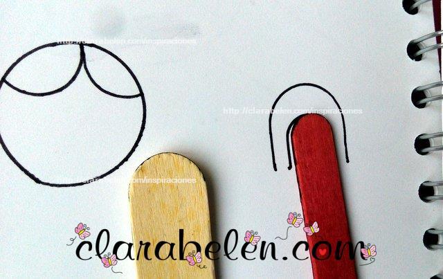 Como hacer moldes de flequillos y orejas con moldes caseros