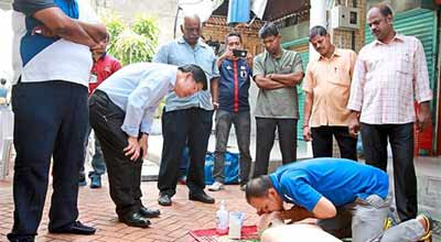 Bringing health awareness to traders' doorsteps