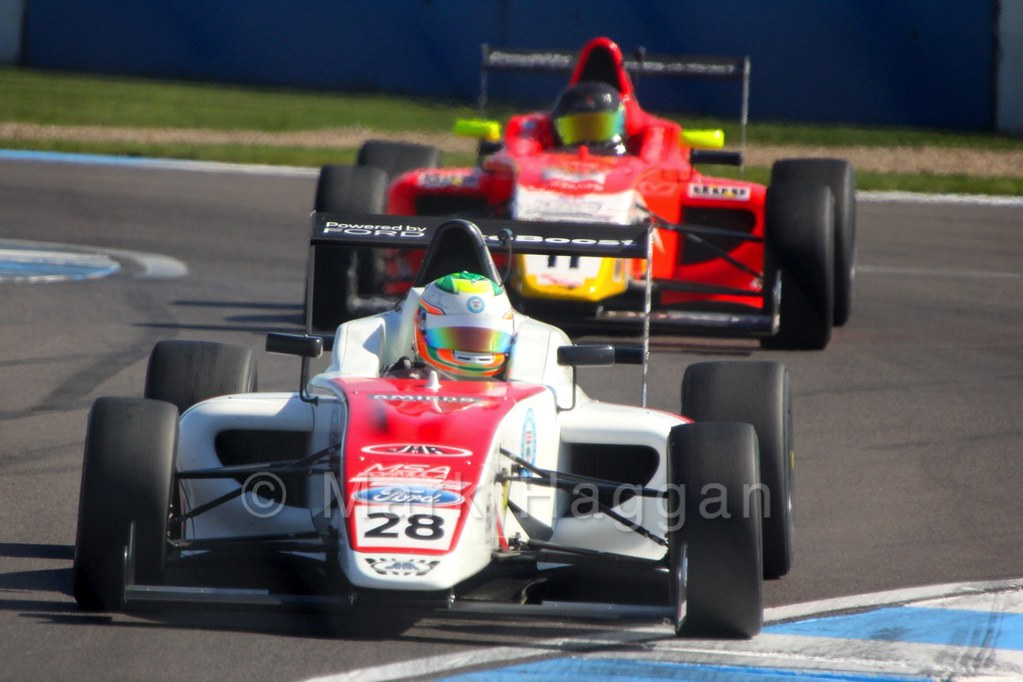 Sennan Fielding racing in MSA Formula at Donington Park