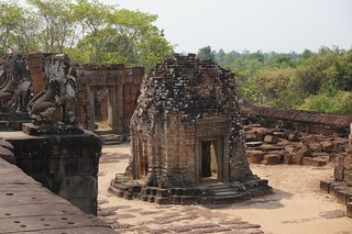 East Mebon temple was built of small bricks