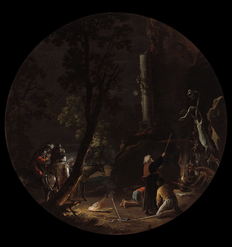 Salvator Rosa - Scene with Witches - Night, 1645-1649
